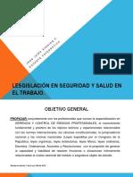 LESGISLACIÓN EN SEGURIDAD Y SALUD EN EL TRABAJO.ppt