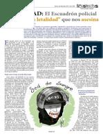 """El Escuadrón policial """"de baja letalidad"""" que nos asesina"""