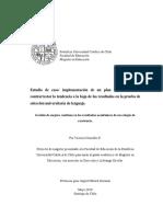 Estudio de caso. implementación de un plan de acción para contrarrestar la tendencia a la baja de los resultados en la prueba de selección universitaria de lenguaje
