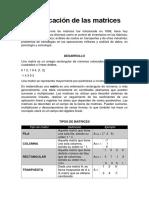 Clasificación de las matrices.docx
