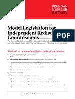 Model Legislation for Independent Redistricting Commissions
