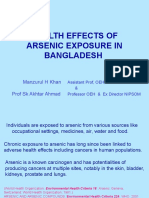 Health Effects of Arsenic Exposure in Bangladesh