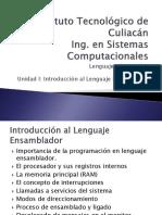 Unidad I Introducción al Lenguaje Ensamblador.pptx