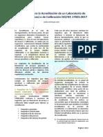 Requisitos para acreditar un laboratorio de ensayos (pruebas) o calibracion ISOIEC 17025-2017