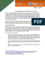 Recomendaciones MOE Bolivia 2019
