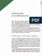 Capítulo 1 Do Livro Psicologias - Bock, 2008