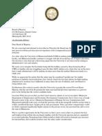 Legislator Letter to UMN Regents