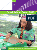 Especialidades Scouts 2019
