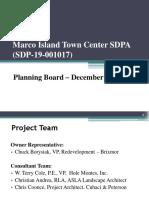 Marco Town Center SDPA (19-001017) - Marco Island Planning Board 12-6-2019