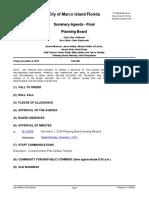 Marco Island Planning Board Meeting Agenda - Dec. 6, 2019