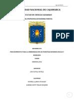 Procedimiento Para La Herborización de Muestras Dendrológicas y Herbario