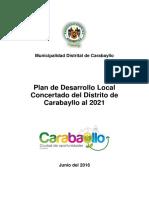 Plan de desarrollo local concertado al 2021 del distrito Carabayllo_2016.pdf