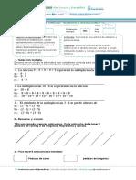 Evaluación Matemáticas Octubre