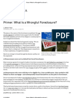 READ THIS IF YOU THINK YOU ARE VICTIM OF WRONGFUL FORECLOSURE
