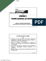 UNIDAD 1 - TEORÍA GENERAL DE SISTEMAS (S.A.)