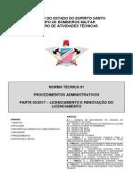 NT 01 Parte 3 - Licenciamento e Renovação Do Licenciamento - 2017