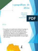 Regiones Geográficas de África