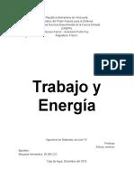 """Trabajo y Energía """"FÍSICA I"""""""