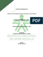 Evidencia 3 Fase III, Integración de áreas involucradas en el servicio al cliente.docx