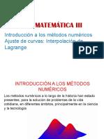 39790 7000183198 09-09-2019 053001 Am Métodos Numéricos Interpolacion Lagrange PPT