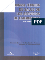 NORMA TECNICA DE SALUD DE LOS SERVIOS DE EMERGENCIAS - NT 042 MINSA-DGSP V.01