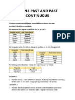 Simple Past and Past Continuous