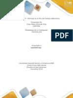 Micro Unidad Unidad 2 Fase 4 – Participar en El Foro Del Trabajo Colaborativo