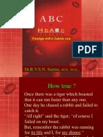 Hb A1c by Dr Sarma