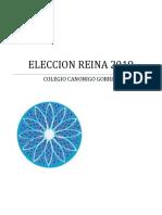 4-Glosa Para Elección Reina Canónigo Gorriti