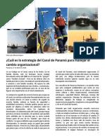 ¿Cuál es la estrategia del Canal de Panamá para manejar el cambio organizacional