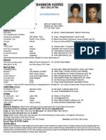 shannon harris website resume