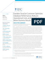 IDC ExaCC Customer Interviews--Executive Summary