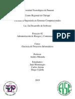 Proyecto #2 Administracion de riesgos y comunicacion.docx