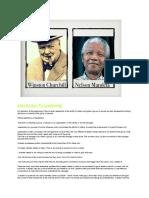 251668676 Leadership Project Mandela and Winston Churchill