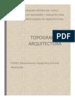LA TOPOGRAFÍA Y LA   ARQUITECTURA.docx