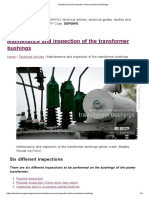Maintenance and Inspection of the Transformer Bushings