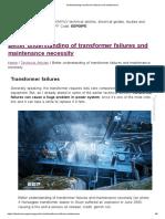 Understanding Transformer Failures and Maintenance