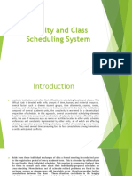 Faculty and Class Scheduling System Presentation
