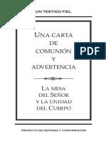 Una carta de comunion y advertencia.pdf