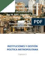 Financiamiento de Gobiernos Metropolitanos en Países en Desarrollo