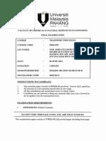 Dkk1493 - Transport Processes 21112