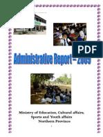 Administrative Report 2009 MoE