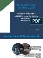 Mesa Metrics That Matter and Roi of Mes Mom