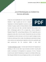 ANALYSE COMPAREE entre Montesquieu Et Rabelais (1000mots)