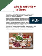 Alimentos Que Debes Comer y Evitar Para La Gastritis y Ulcera