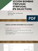 Selección Bombas Centrifugas (Centrifugal Pumps Selection) Practico 10