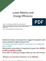 Green Metrics and EE