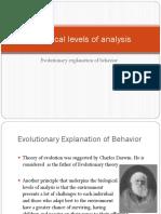 Evolutionary Expl of Behavior
