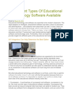 4 Different Types Of Educational Technology Software Available