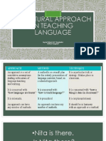 Structural approach in teaching language